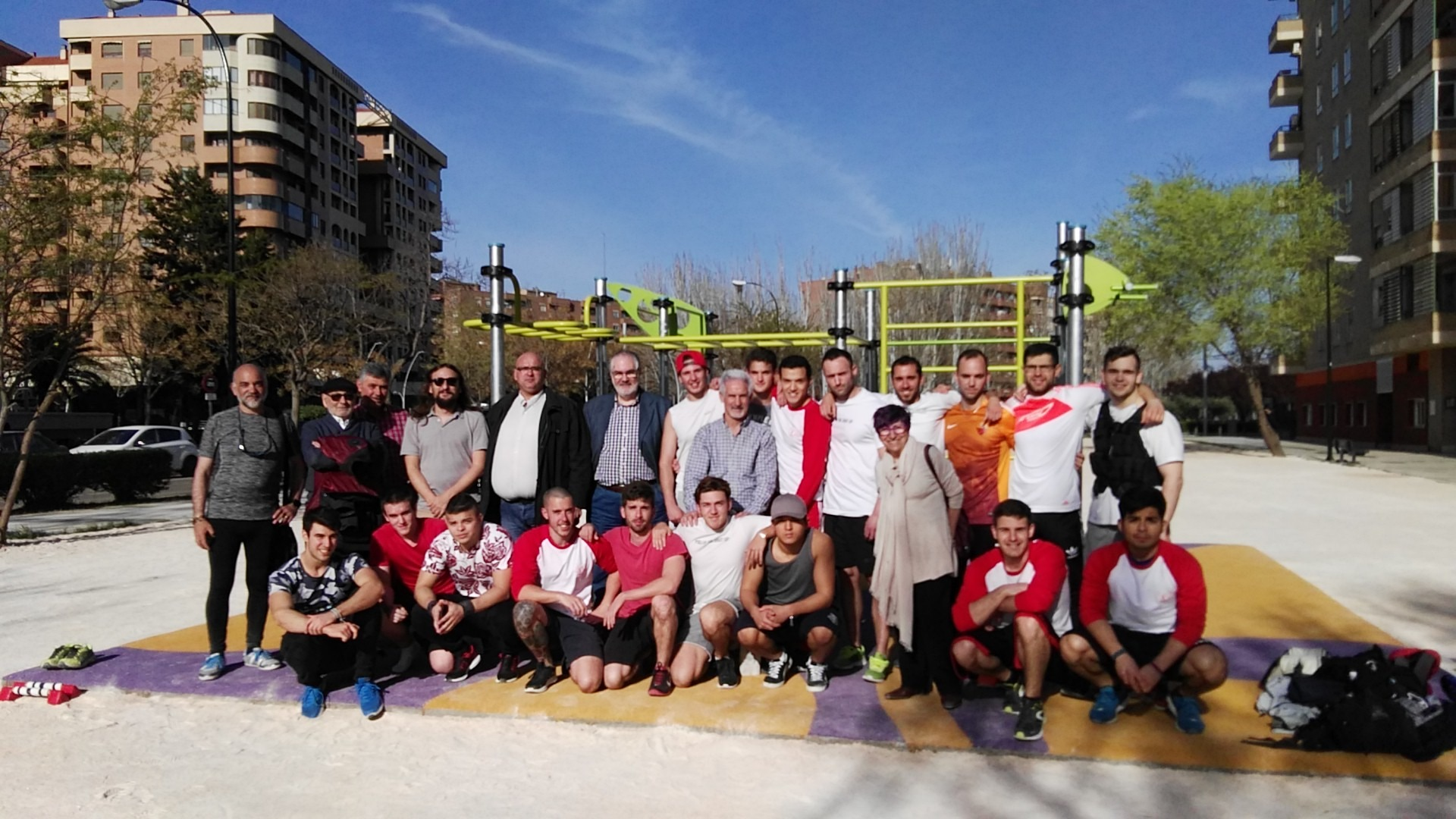 Inauguración de la Instalación Deportiva Elemental de Street Workout – Calistenia en el Actur.