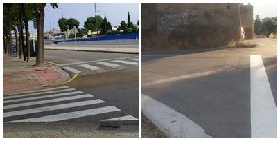 Mejora de seguridad vial en dos cruces peligrosos del barrio conseguidos por la AAVV Alonso de Villalpando
