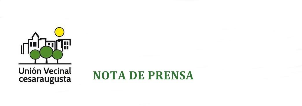 """La Unión Vecinal Cesaraugusta rechaza la decisión  del Alcalde de cuestionar a esta entidad vecinal  por retwittear mensajes sobre  """"la guerra de las banderas"""""""
