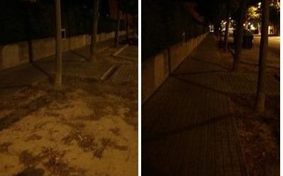 Denuncian la escasa iluminación de la calle Sagrada Familia