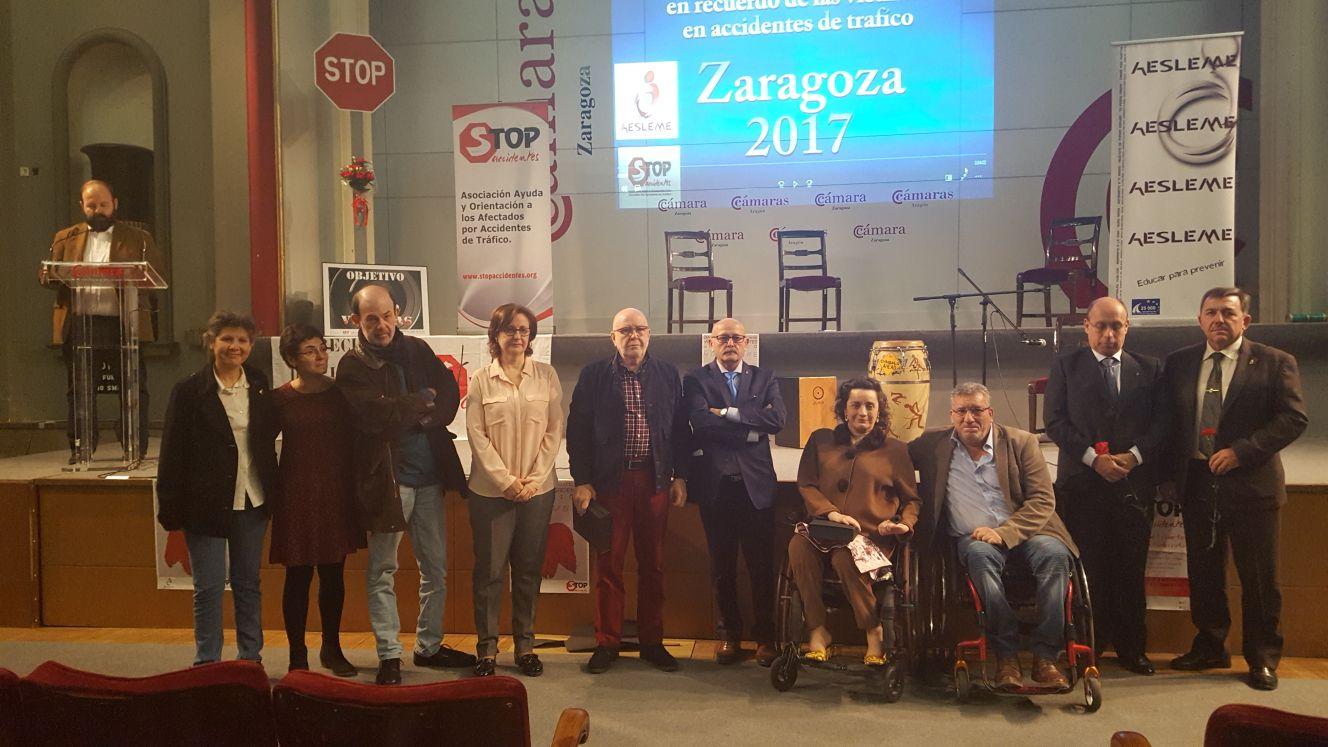 Stop Accidentes Aragón reconoce el apoyo de la Asociación de Vecinos Arco Iris